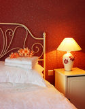 Romantiskt sovrum Arkivbild