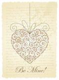 Romantiskt tappningkort Arkivfoto
