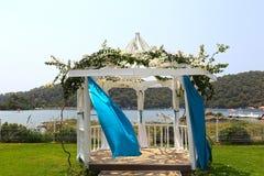 romantiskt venuebröllop för dag arkivfoto