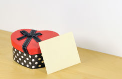 Romantiv gift box and envelope Stock Images