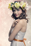 Romantyczna brunetki kobieta Zdjęcia Stock