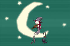 romantyczna czarownica Obrazy Royalty Free