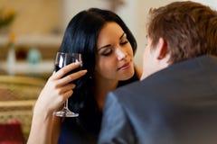 Romantyczna data zdjęcia royalty free