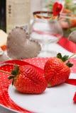 Romantyczna dekoracja stół Zdjęcia Stock