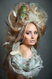 romantyczna fryzury kobieta obraz royalty free