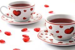 romantyczna herbata dwa obrazy stock