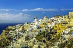 Romantyczna i piękna wioska Oia w Santorini Obraz Royalty Free
