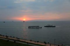 Romantyczna Izmir zatoka Fotografia Royalty Free