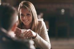 Romantyczna kawowa przerwa Obraz Royalty Free