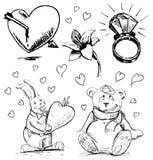 Romantyczna kolekcja Fotografia Royalty Free