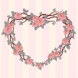 Romantyczna kwiecista rama Fotografia Royalty Free