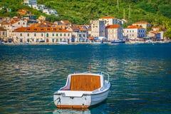 Romantyczna lato sceneria w Vis wyspie, Chorwacja Obrazy Royalty Free