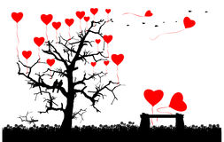 Romantyczna miłości pojęcia karta ilustracji