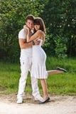 Romantyczna nastoletnia para Obraz Royalty Free