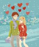 Romantyczna para Obrazy Stock