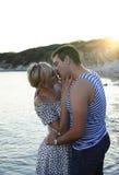 romantyczna plażowa para Obrazy Royalty Free
