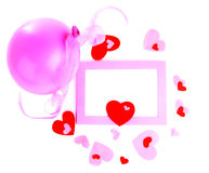 romantyczna ramowa wakacyjna fotografia Zdjęcie Royalty Free