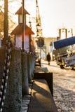 Romantyczna schronienie portu scena w Gothenburg Szwecja przy zmierzchem 2 Zdjęcia Stock