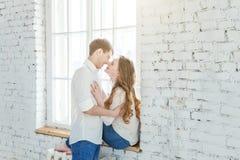 Romantyczna seksowna para w miłości ma ładnego czas wpólnie zdjęcie stock