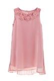 Romantyczna szyfon suknia z pofałdowanym plecy i motylami zdjęcia stock