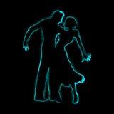 Romantyczna taniec para ilustracji
