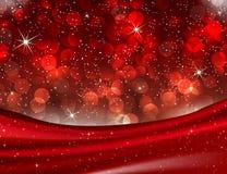 Romantyczna walentynka Czerwony Bokeh zaświeca Eleganckiego miłości tło Obrazy Royalty Free