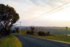 Romantyczna wiejska droga w górach w Nowych południowych waliach Australia Zdjęcia Stock