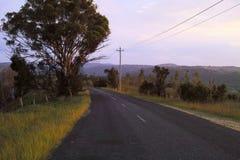 Romantyczna wiejska droga w górach w Nowych południowych waliach Australia Obrazy Royalty Free