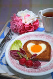 romantyczne śniadanie Fotografia Stock
