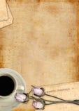 Romantyczne listowe puste serie pionowo Obraz Royalty Free