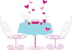 romantyczne spotkanie royalty ilustracja