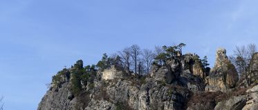 Romantycznego widoku skalisty krajobraz fotografia stock