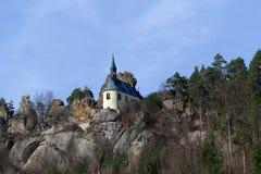 Romantycznego widoku skalisty krajobraz obrazy stock