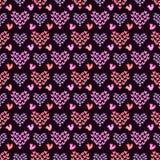 Romantyczni bezszwowi wzory Tileable tło Zdjęcia Stock