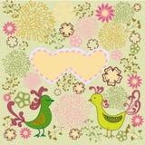 Romantyczni deseniowi ptaki w miłości Ilustracja Wektor