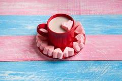 Romantyczni kierowi marshmallows i czekolada zdjęcia royalty free