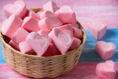 Romantyczni kierowi marshmallows obrazy stock