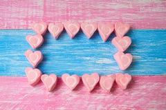 Romantyczni kierowi marshmallows fotografia stock