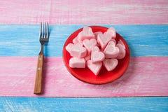 Romantyczni kierowi marshmallows zdjęcia royalty free