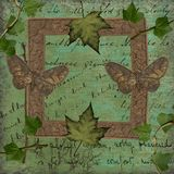 Romantyczni liści ćma Tapetowi Zdjęcie Royalty Free
