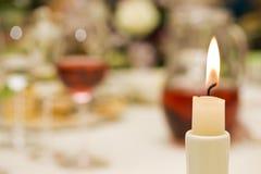 romantyczny świeczki pojęcie Fotografia Stock