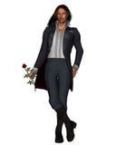 romantyczny (1) mężczyzna wzrastał Zdjęcia Royalty Free