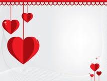 Romantyczny abstrakcjonistyczny tło z sercami St Walentynki ` s dzień V royalty ilustracja
