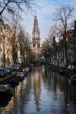 romantyczny Amsterdam miejsce Obrazy Royalty Free