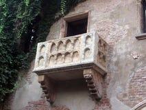 Romantyczny balkon Romeo i Juliet w Verona Włochy Zdjęcia Royalty Free