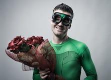 Romantyczny bohater z różami obrazy stock