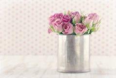 Romantyczny bukiet róże Fotografia Royalty Free