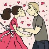 Romantyczny buziak royalty ilustracja