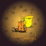 Romantyczny ciepły tło z świeczką ilustracji