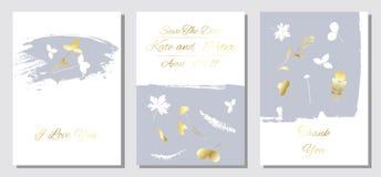 Romantyczny czuły kwiecisty projekt dla ślubnego zaproszenia ilustracji